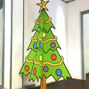 Kerstboom van karton!
