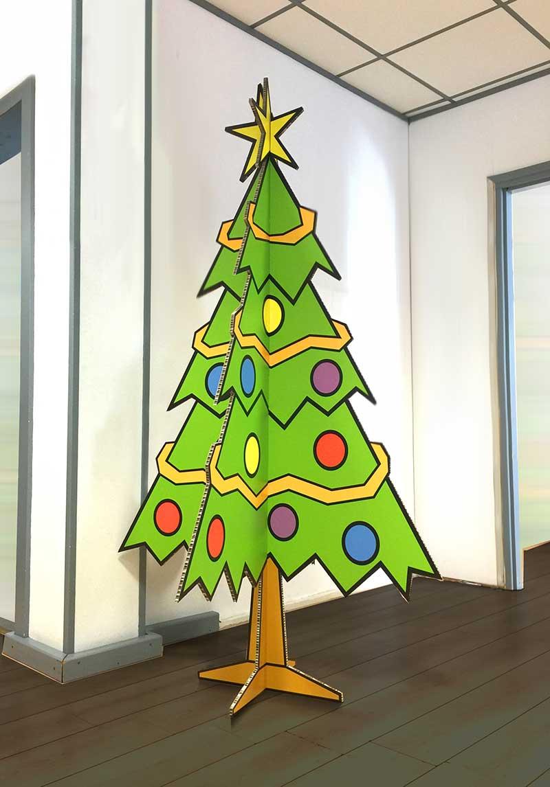 Geprinte kerstboom van karton