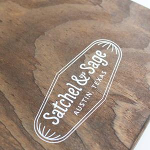 menukaart van hout