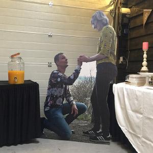 Levensgroot bruidspaar