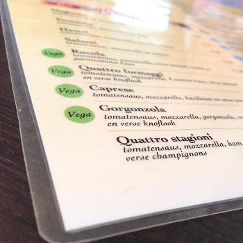 Geplastificeerde placemats bedrukken