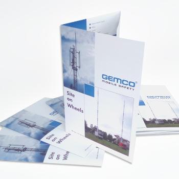 Brochure met drieluik vouw