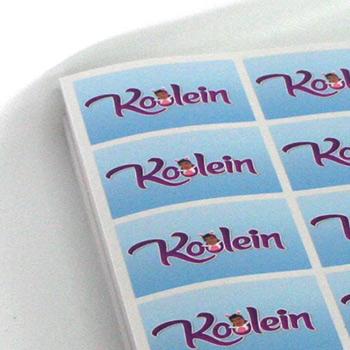 Glossy stickers drukken op handzame vellen