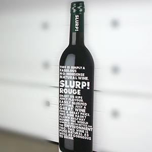 Levensgrote wijnfles